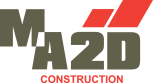 ma2d logo, entrepreneur en construction